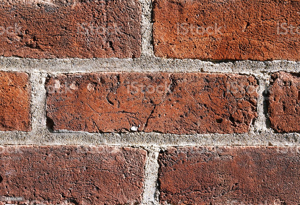 Textured Brick in the Wall royalty-free stock photo