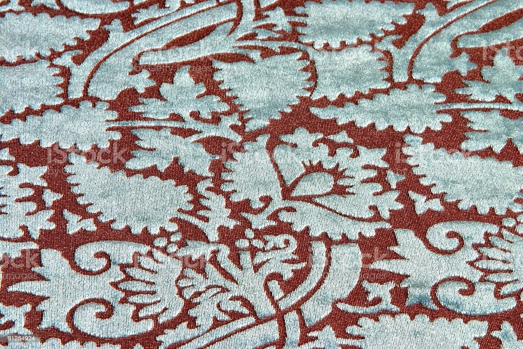 Textured Brocade Textile Background stock photo