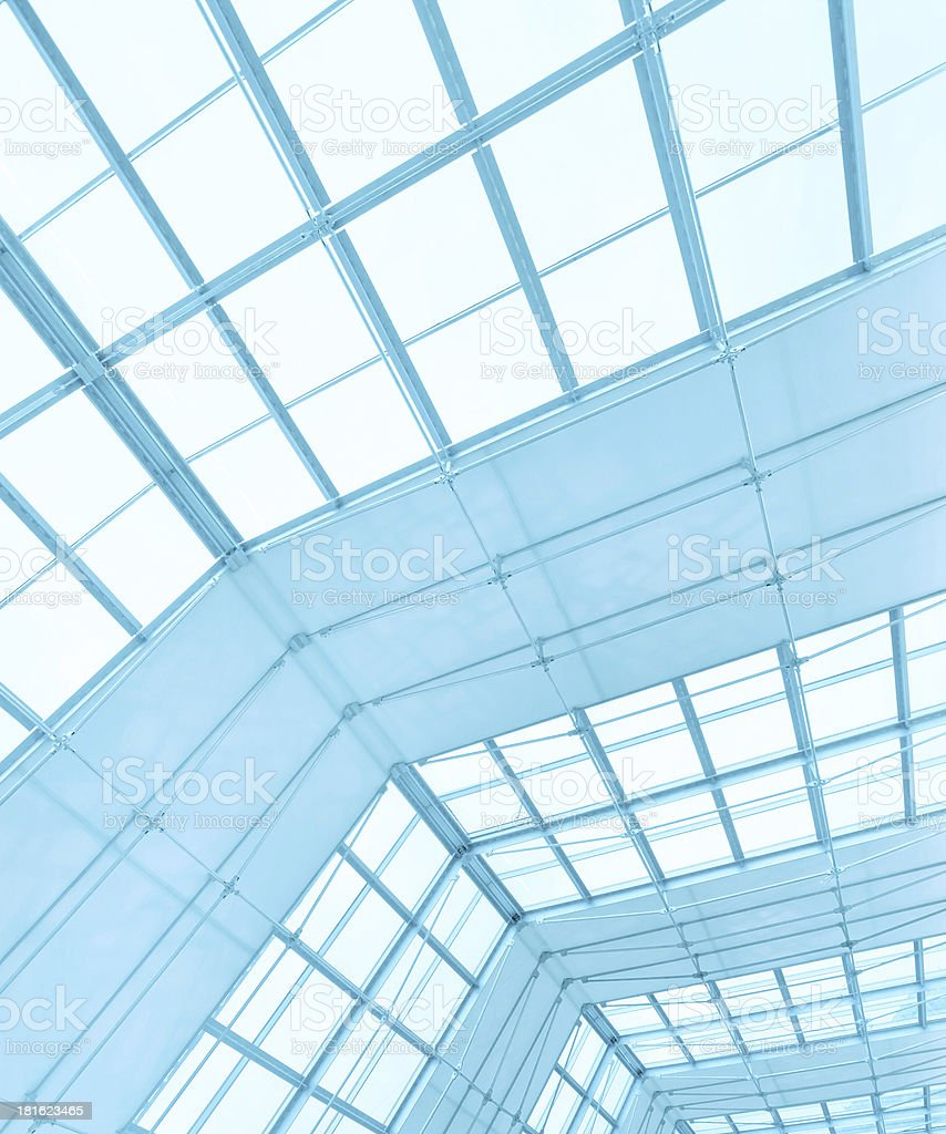 textured ceiling inside office center royalty-free stock photo