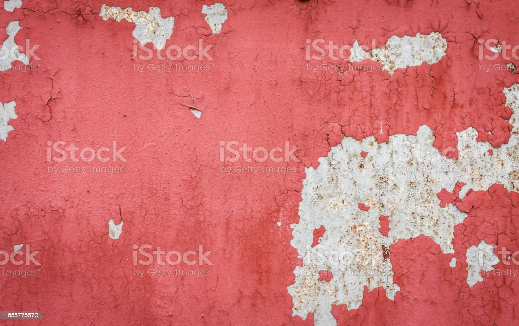 Textured color paint on metal background stock photo
