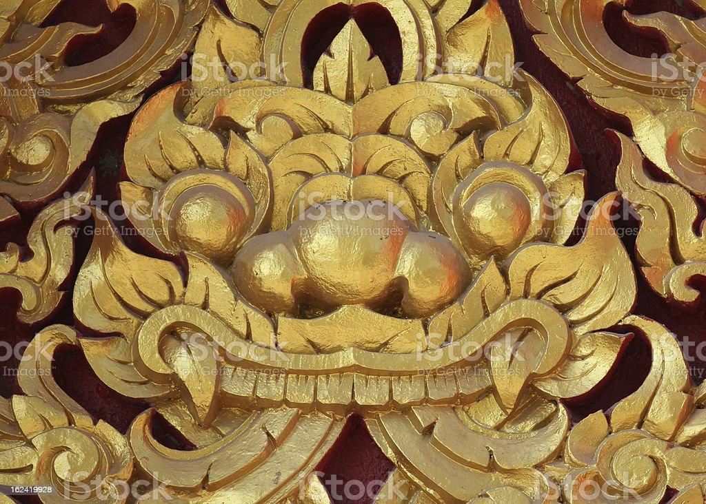 Textured detail of pagoda at Wat  Ang Thong Thailand. royalty-free stock photo