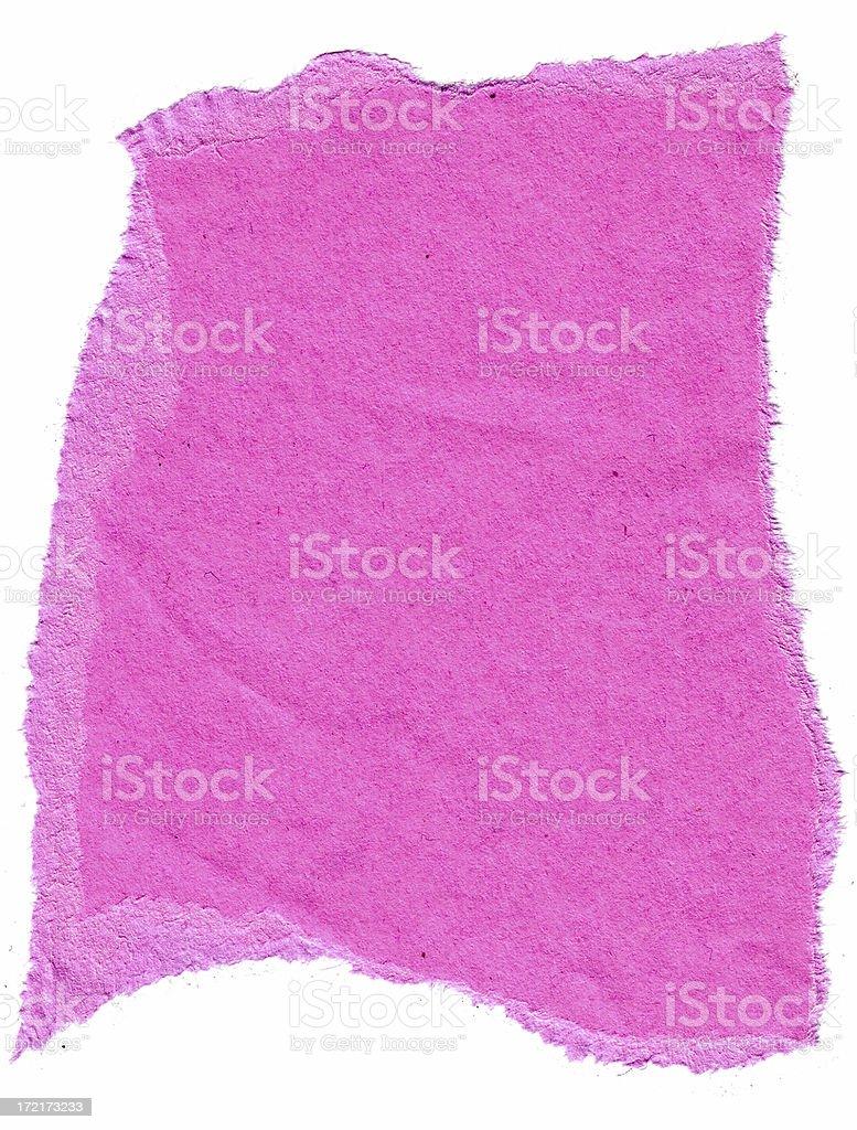 textured edge pink paper stock photo