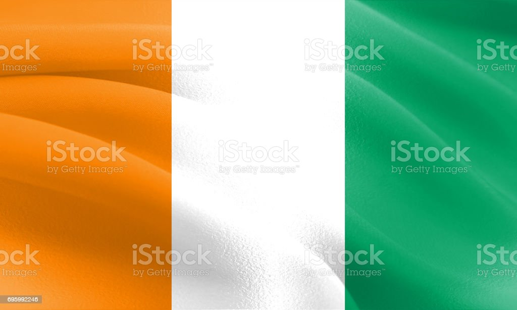 Textured Flag of Côte d'Ivoire ideal for backdrops stock photo