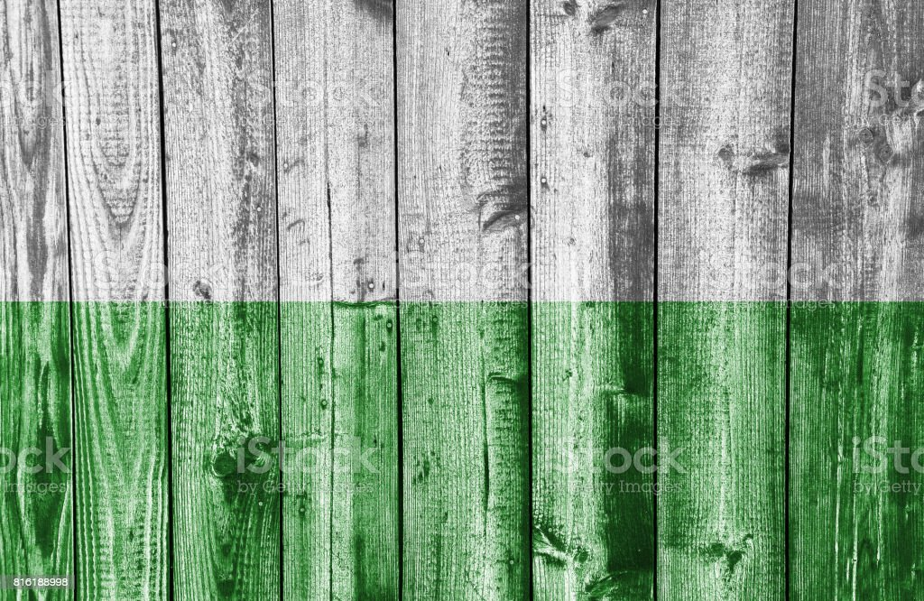 Textured flag of Saxony in nice colors stock photo