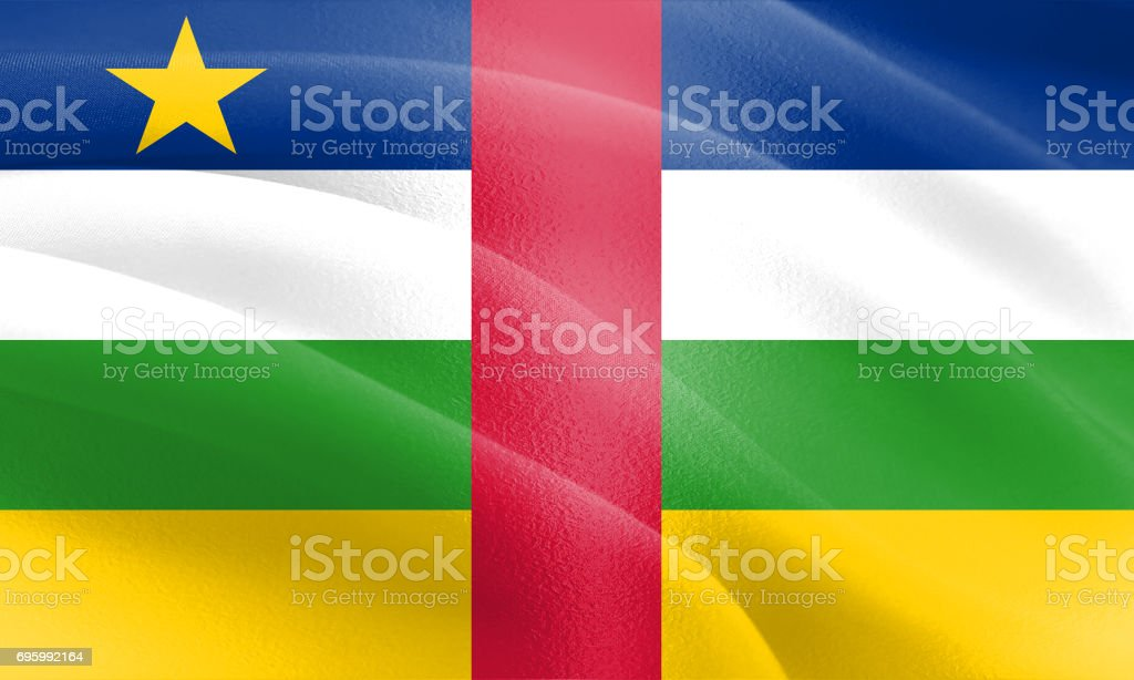 Textured Flag of the Central African Republic ideal for backdrops stock photo