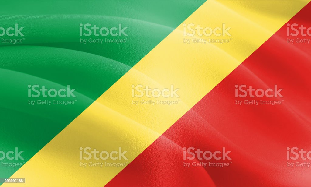 Textured Flag of the Congo ideal for backdrops stock photo