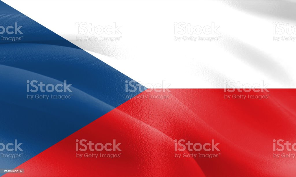 Textured Flag of the Czech Republic ideal for backdrops stock photo