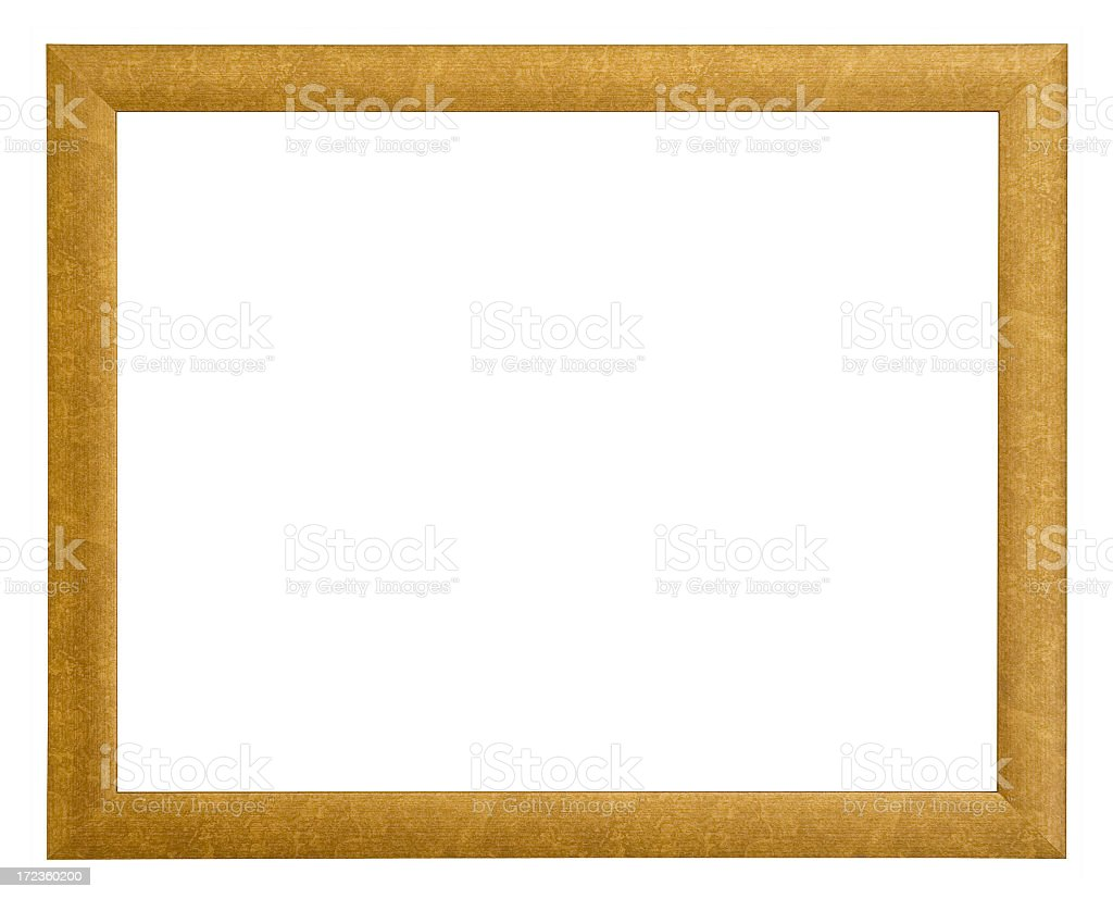 Textured gold frame stock photo
