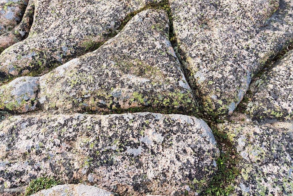 textured granite rock as background stock photo