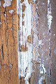 Textured Gray-Brown Background: Distressed Paint on Old Wood