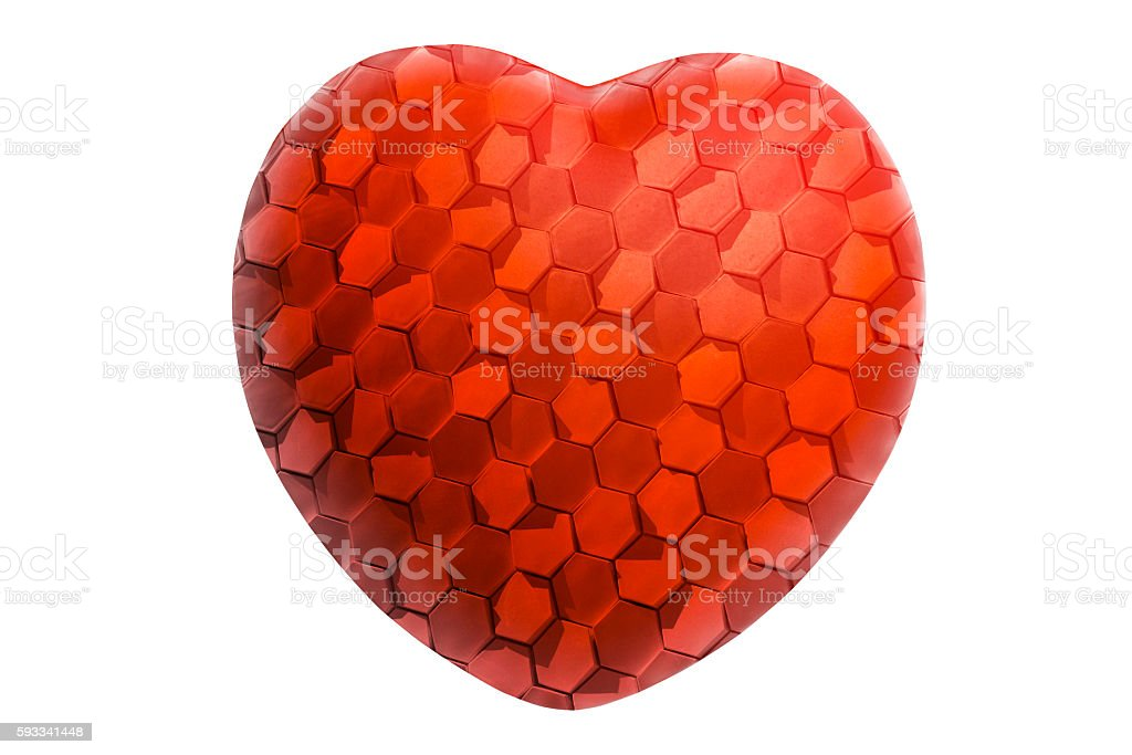 Textured Heart stock photo