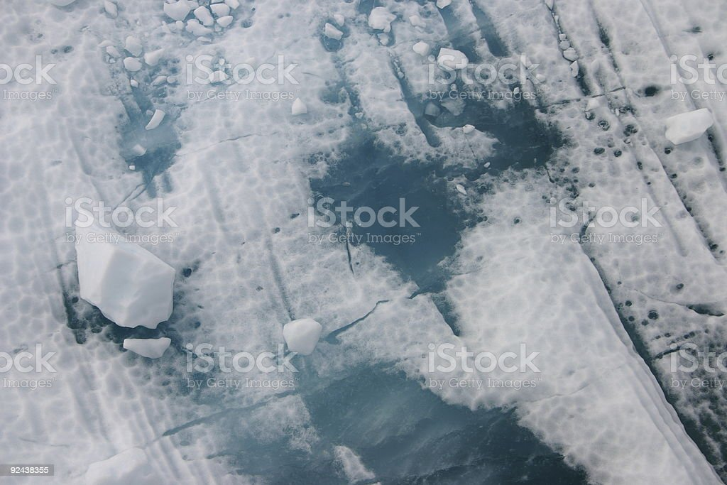 textured ice floe detail stock photo