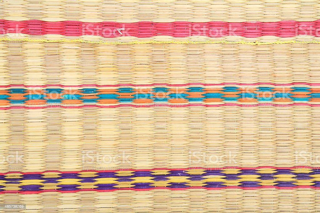 textured of colorful rattan wicker mat royalty-free stock photo