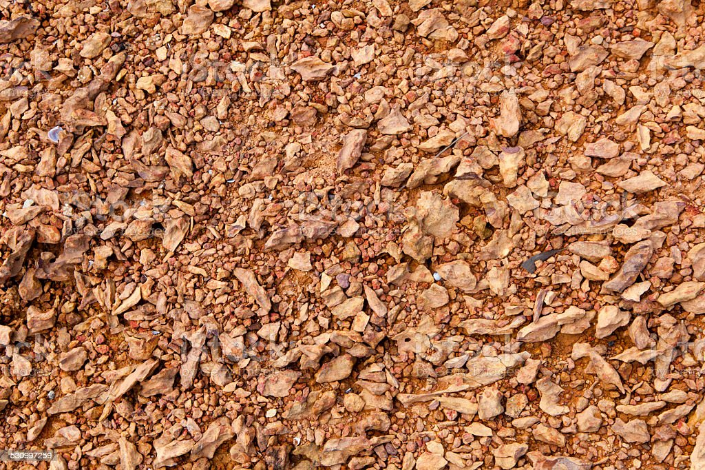 Textured of gravel and soil stock photo