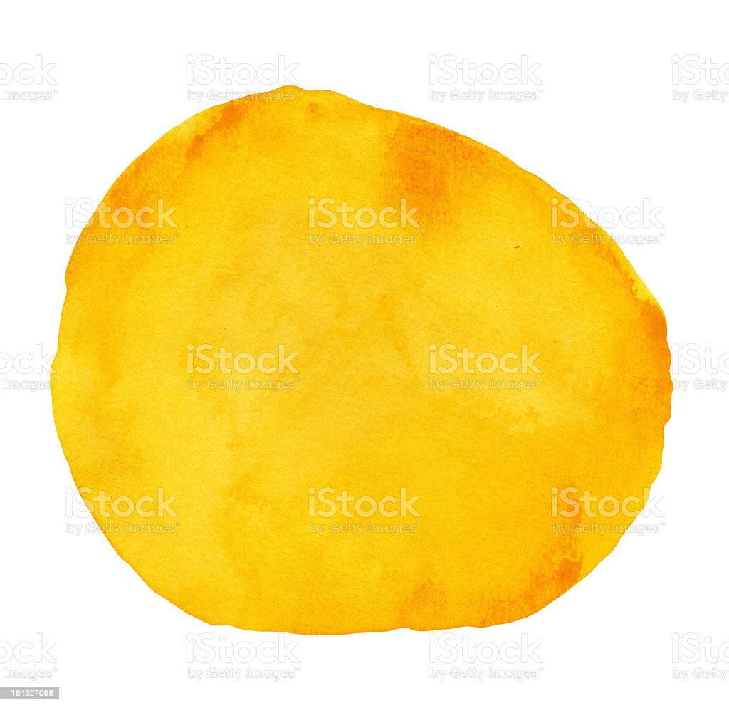 Textured Orange watercolour Shape stock photo
