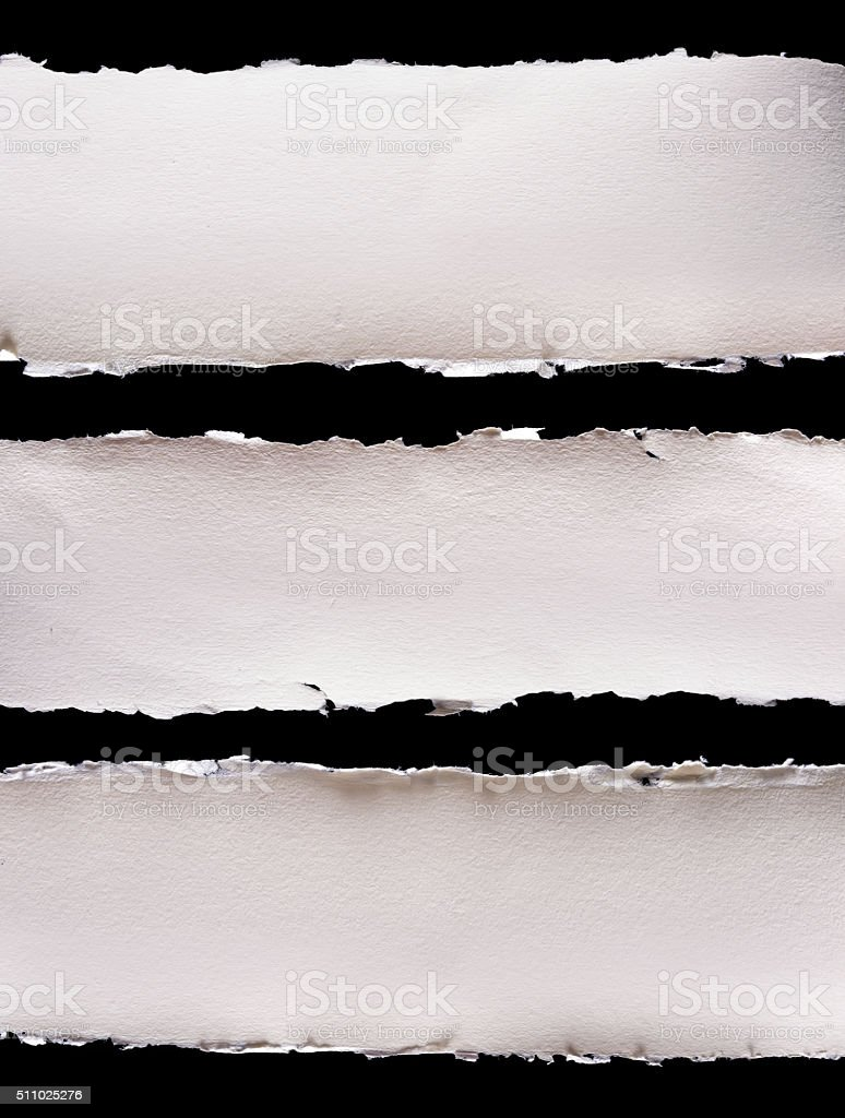 Textured paper edges stock photo
