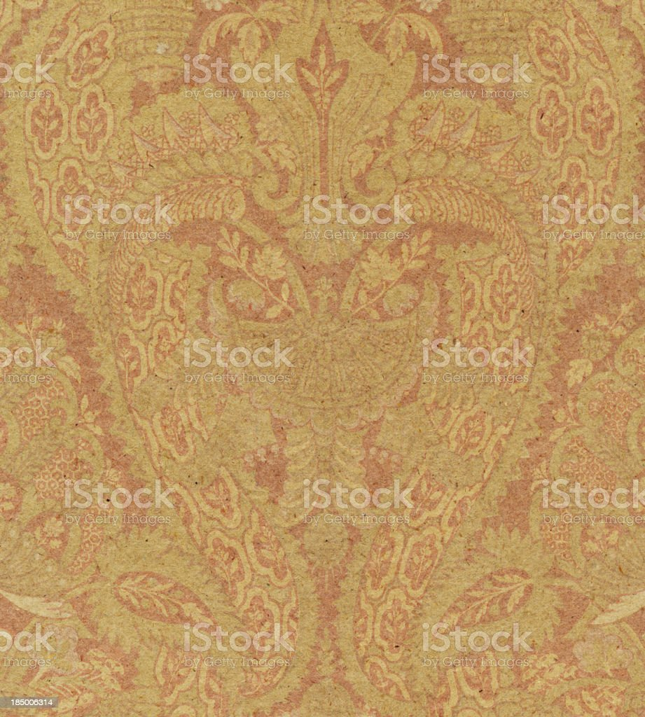 textured paper with antique ornament royalty-free stock photo