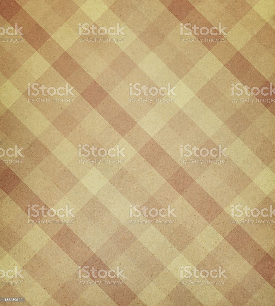 High resolution textured paper with checked pattern vector art illustration