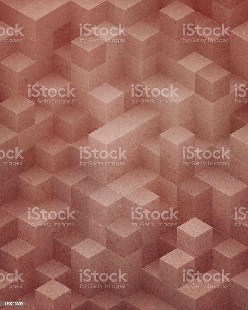 textured paper with stacked cube pattern royalty-free stock photo