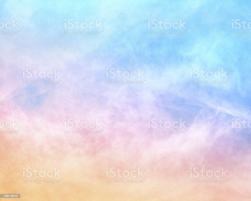 Textured Rainbow Clouds stock photo