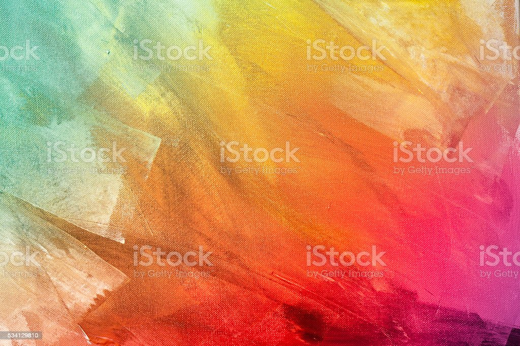 Textured rainbow painted background stock photo