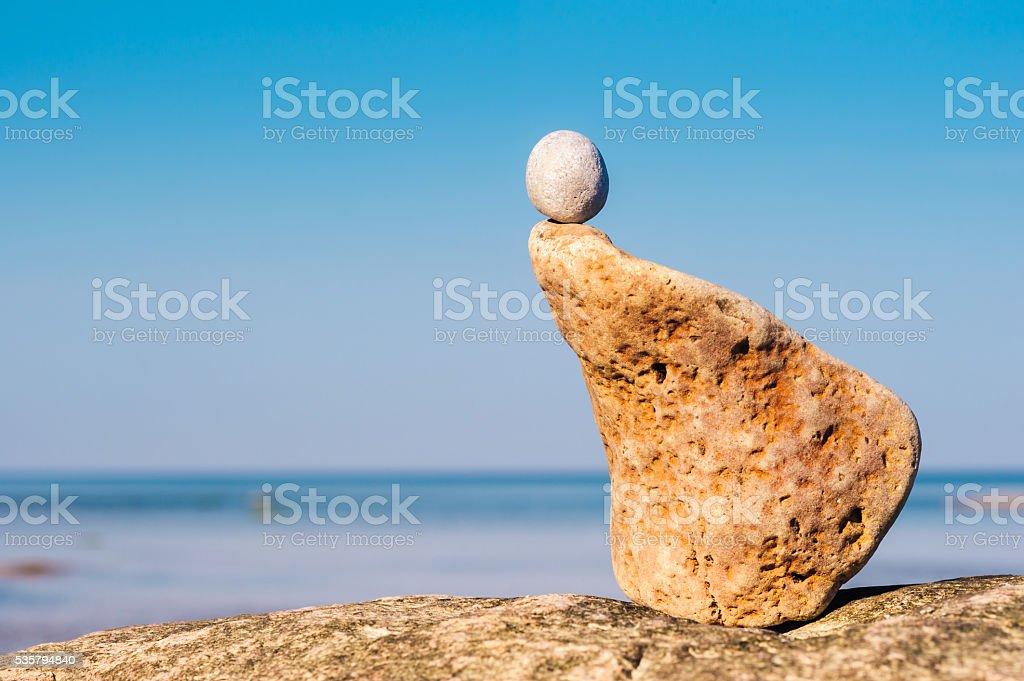 Textured shape of stone stock photo