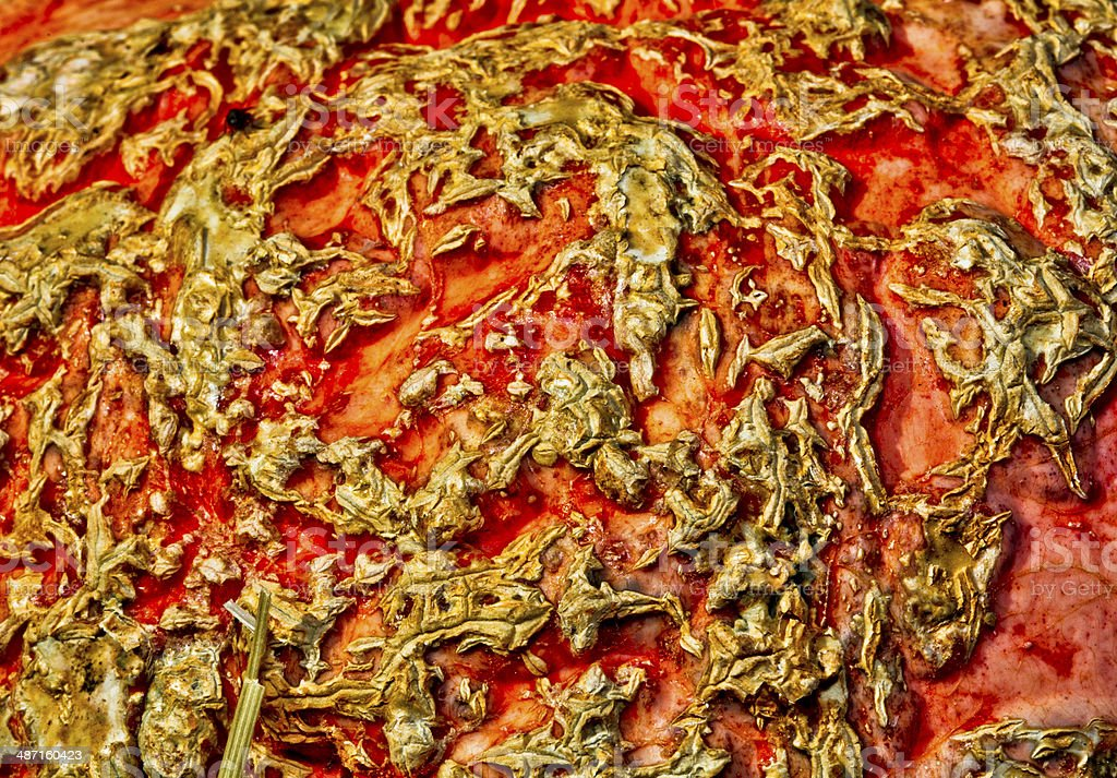 Textured Surface of a Pumpkin stock photo