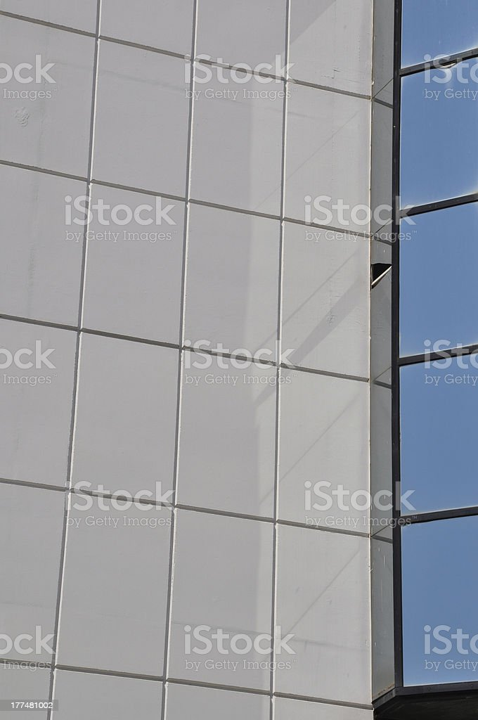 textured wall and windows royalty-free stock photo