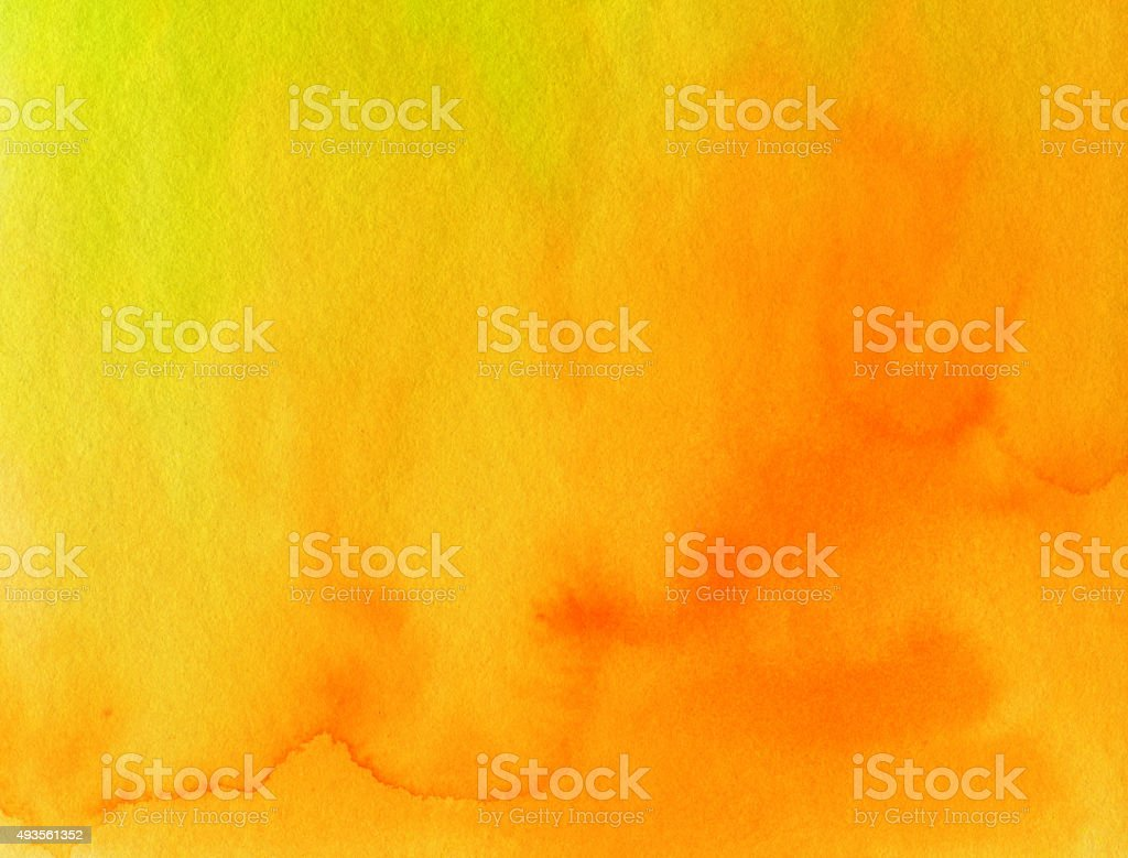 Textured watercolor and ink background with bright colors stock photo