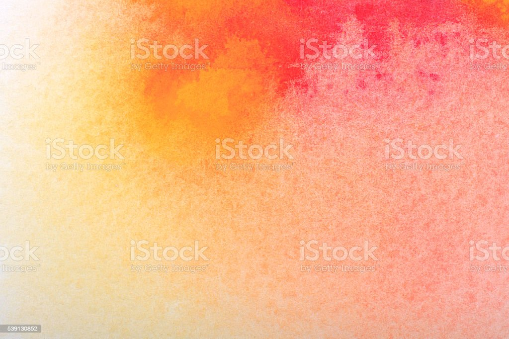Textured Watercolor Painting Backgrounds Yellow Red stock photo