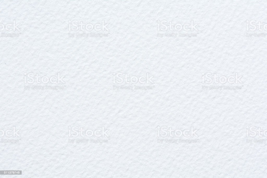 Textured Watercolor Paper - White stock photo