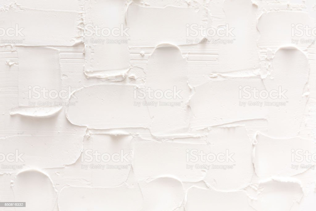 Textured white brick wall, stucco pattern stock photo