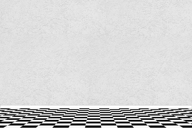 Checkerboard floor pictures images and stock photos istock for Black and white check floor