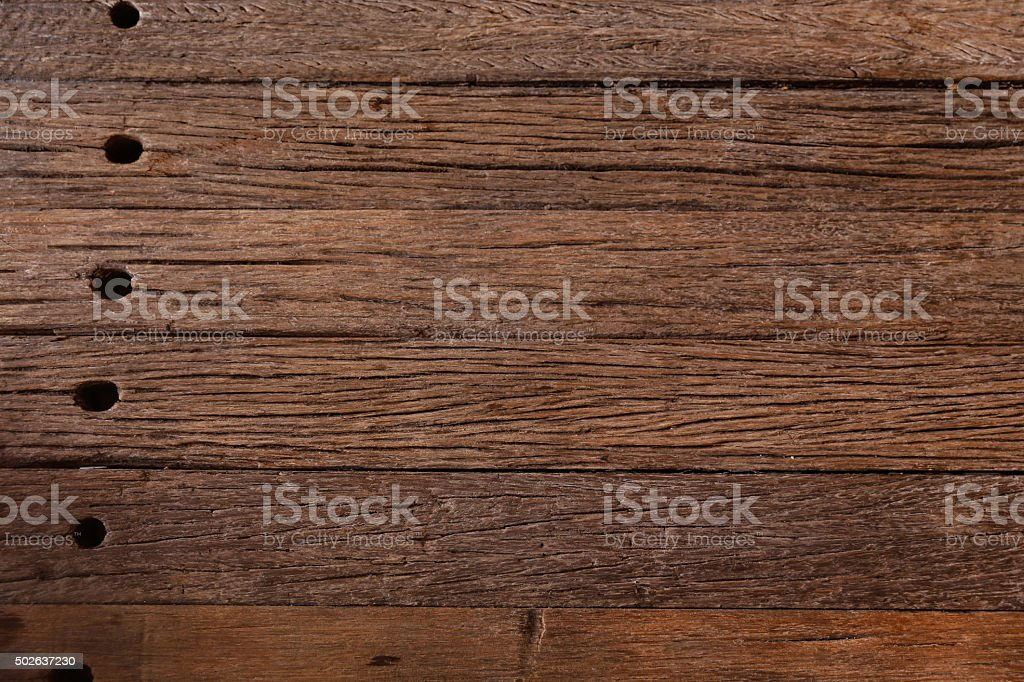 Textured wood rustic plank backgrounds with hole stock photo