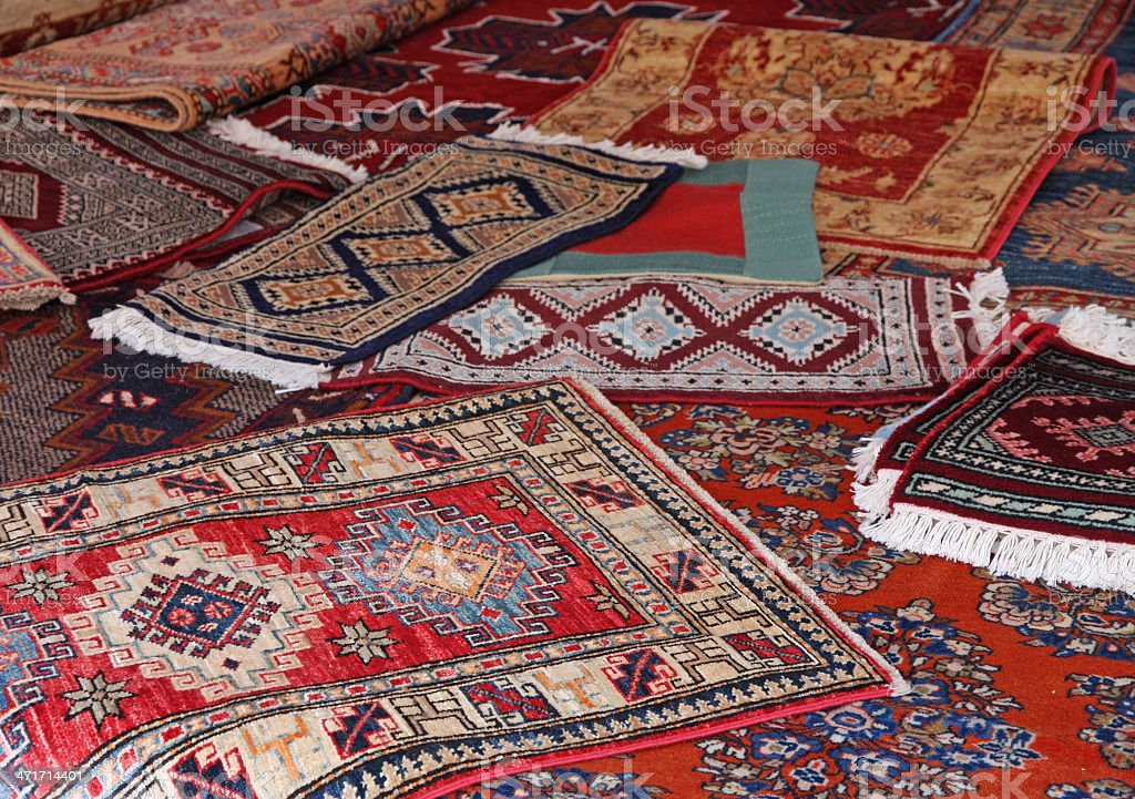 textures and background of ancient handmade carpets royalty-free stock photo