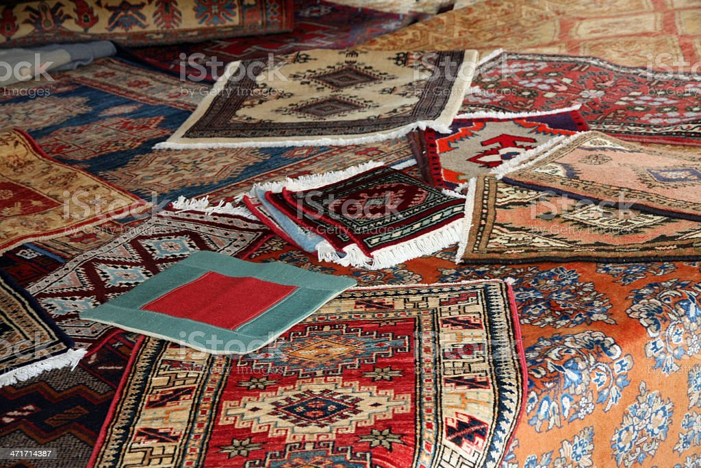 textures and background of handmade carpets royalty-free stock photo