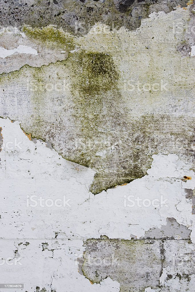 Textures - Peeling old painted wall royalty-free stock photo