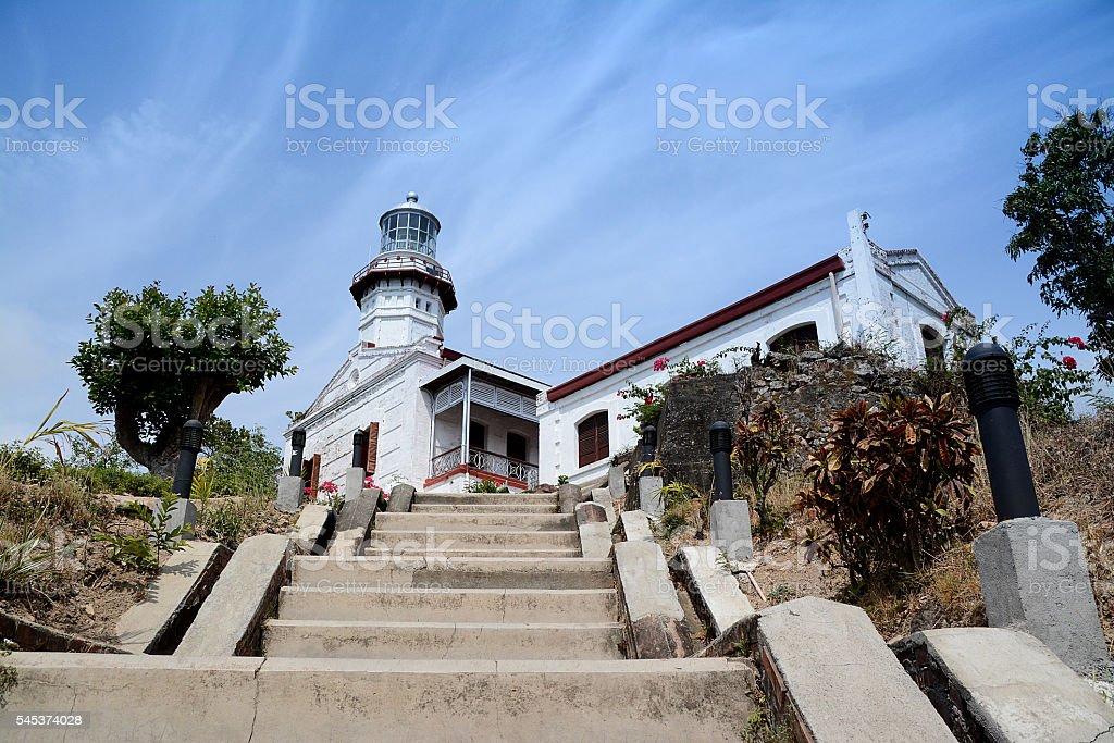 Tha Cape Bojeador Lighthouse stock photo