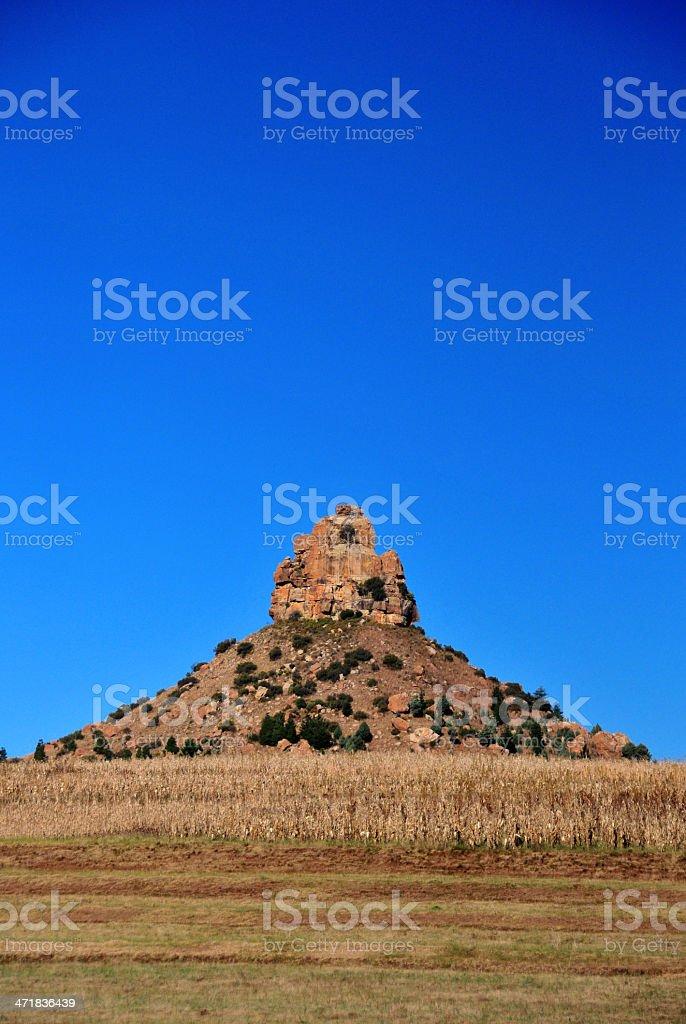 Thaba Bosiu, Lesotho: Qiloane pinnacle royalty-free stock photo