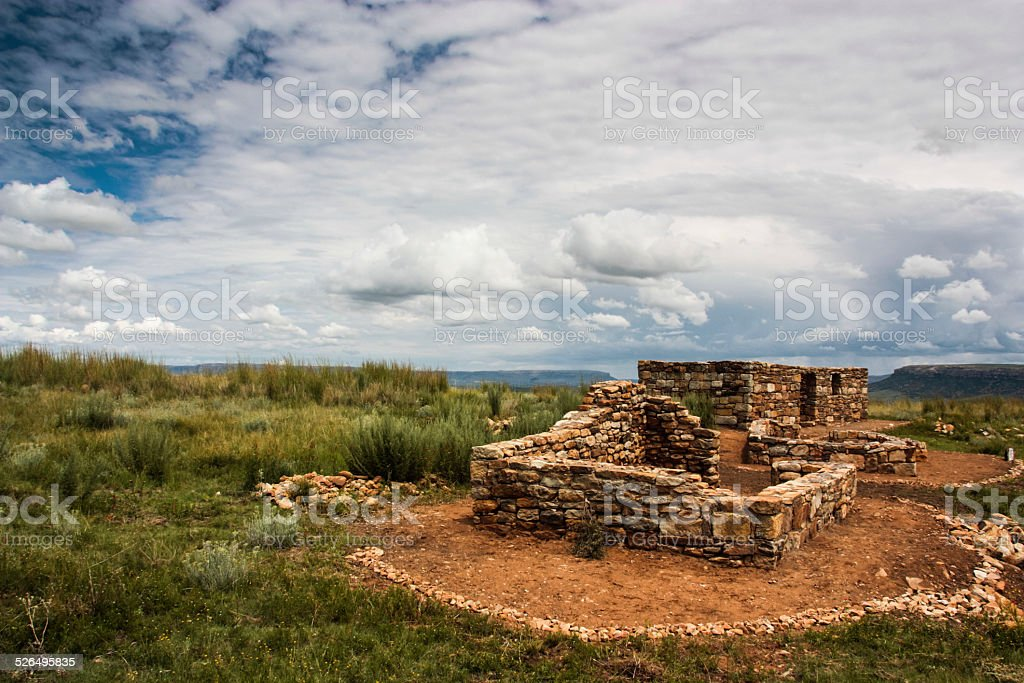 Thaba Bosiu stock photo