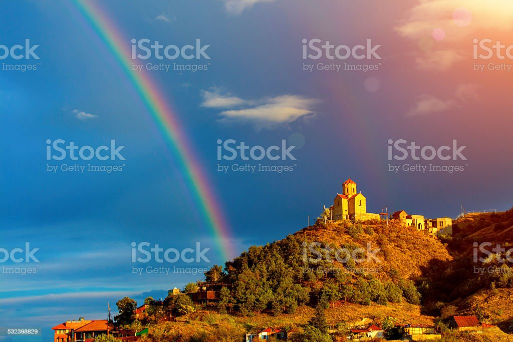 Thabori monastery in Tbilisi, Georgia country stock photo
