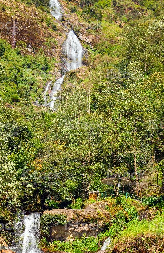 Thac Bac Waterfall Silver falls in Sapa Vietnam stock photo