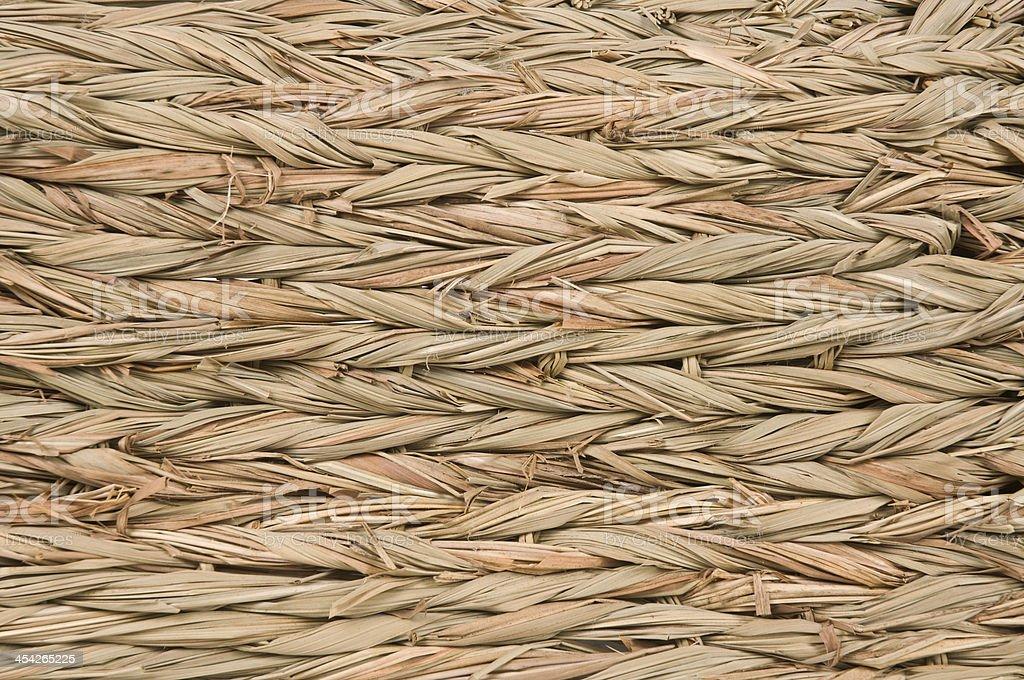 Thached Woven Straw Tiki Background Macro stock photo