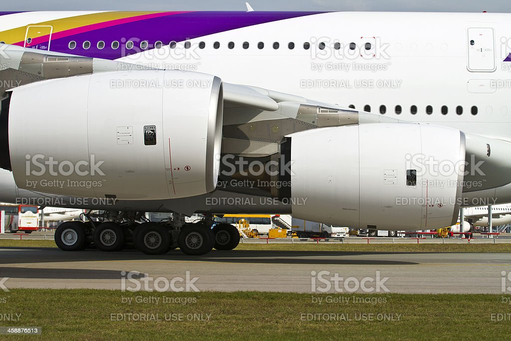 Thai A380 stock photo