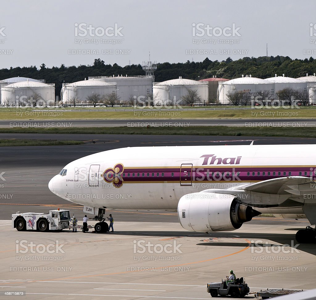 Thai Airlines Boeing 777-200ER royalty-free stock photo