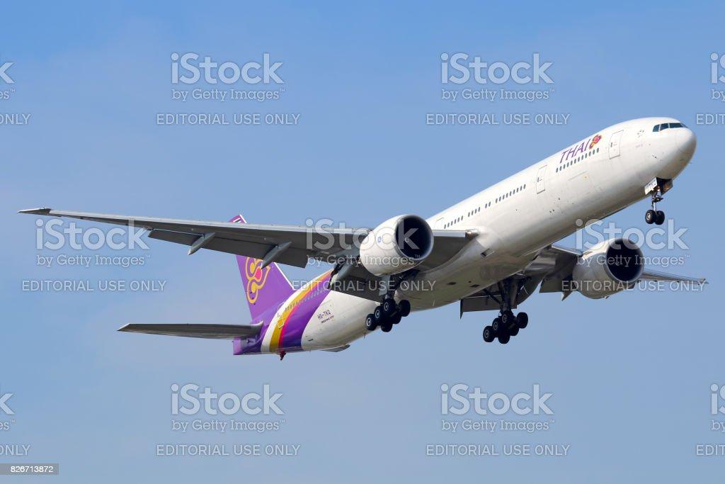 Thai Airways aircraft stock photo