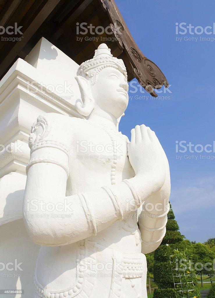 Thai ancient art stock photo