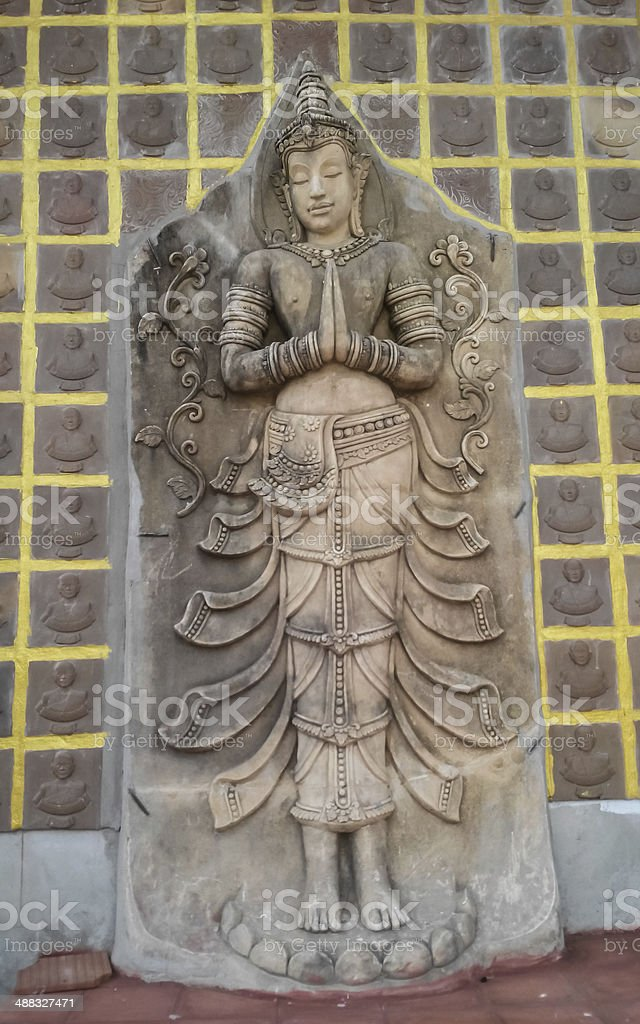 Thai angel in Temple royalty-free stock photo
