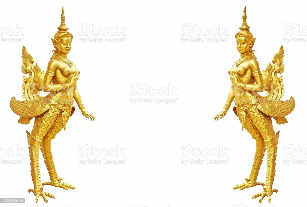 Thai art Kinnaree statue stock photo