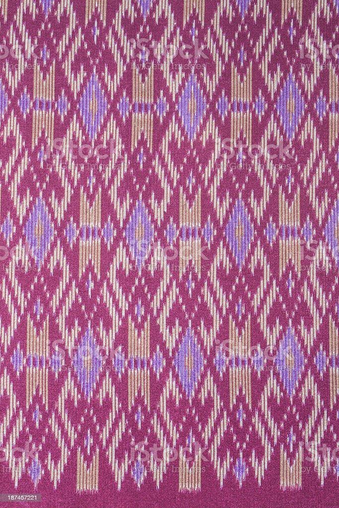 Thai art pattern on fabric. royalty-free stock photo